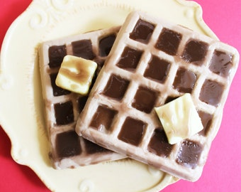 Waffle Soap - Fake Food Soap, Prank Soap, Syrup, Butter, Food Soap, Novelty Soap, Gag Gift, Silly Soap, Funny Soap, Syrup Soap, Kids Soap