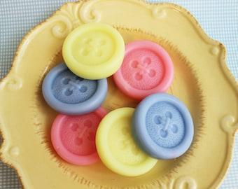 Button Soap Set - Cute as a Button Soap, Baby Shower Favors, Soap Favors, Shower Favours, Kids Soap, Wedding Favors, Craft Soap, Buttons