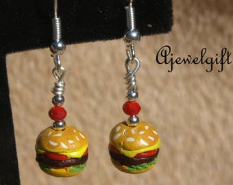 Cheeseburger Earrings 17004
