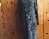 Women 39 s vintage 1980 39 s charcoal grey sweater dress. Size medium