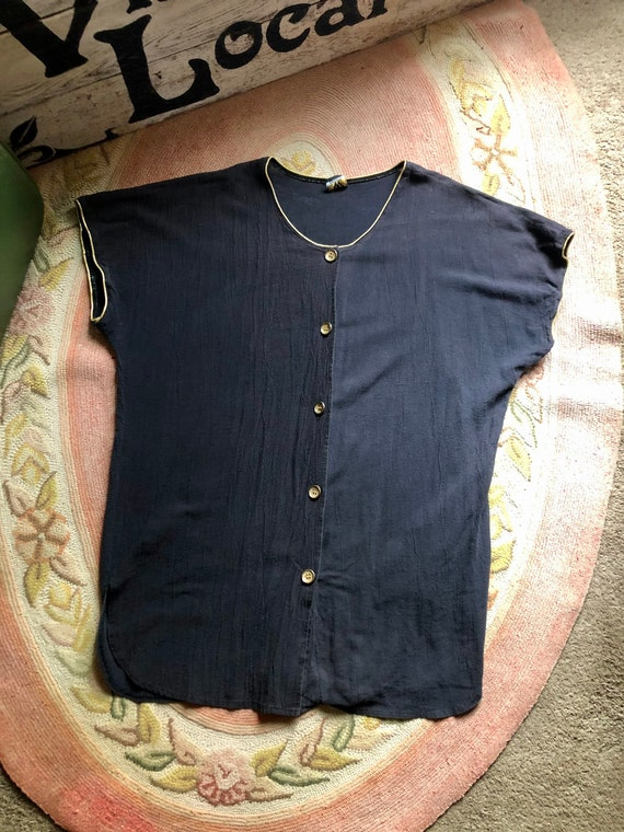 Perfect 1980's/90's vintage black tunic or mini d… - image 1