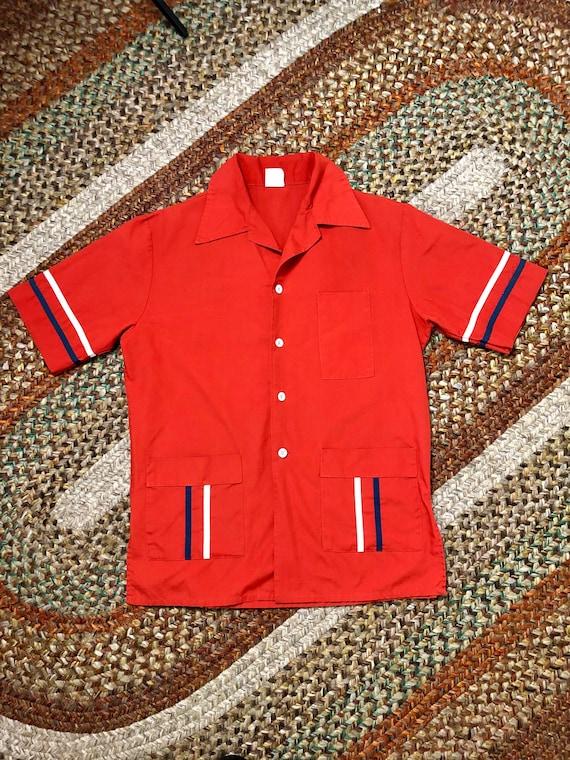 summer hipster 1970s RAINBOW Swirl Retro Collared Shirt...kitsch rainbow colorful urban hippie 70s clothing twiggy 1970s boho top