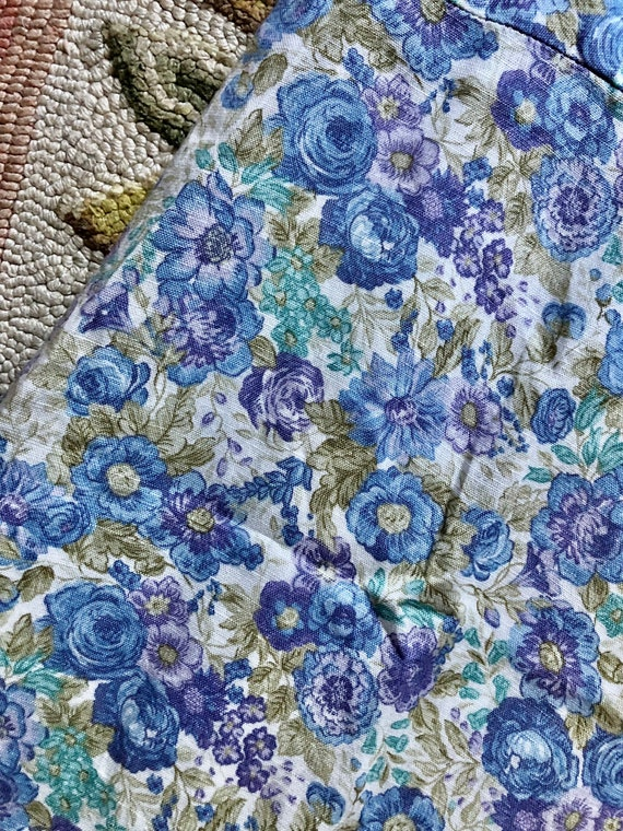 1990's vintage Laura Ashley linen floral midi dre… - image 7