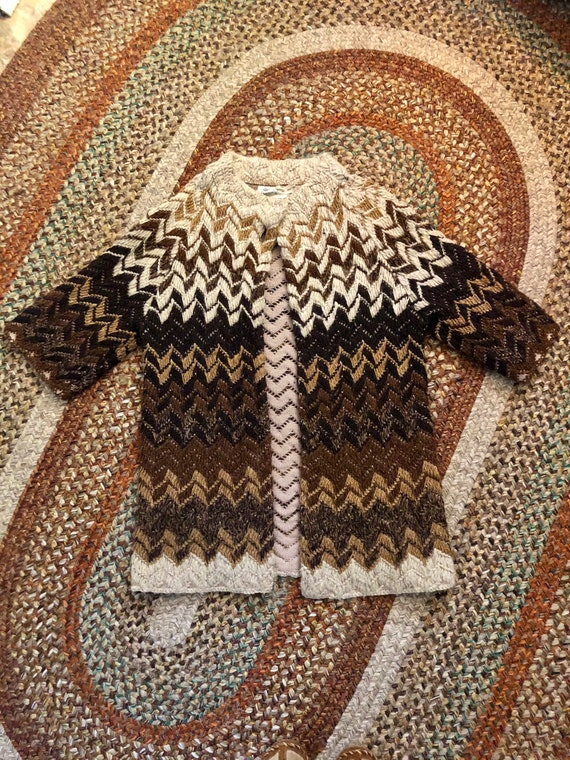 Amazing vintage women's 1960's chevron print wool