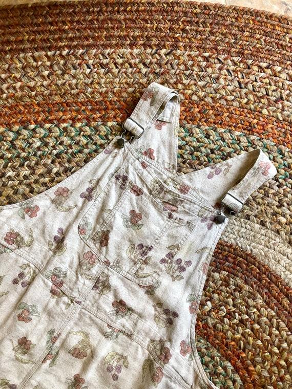 Adorable 1980's/90's linen vintage plus size jumpe