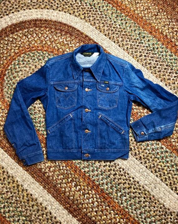 1970's maverick vintage denim trucker jacket mens
