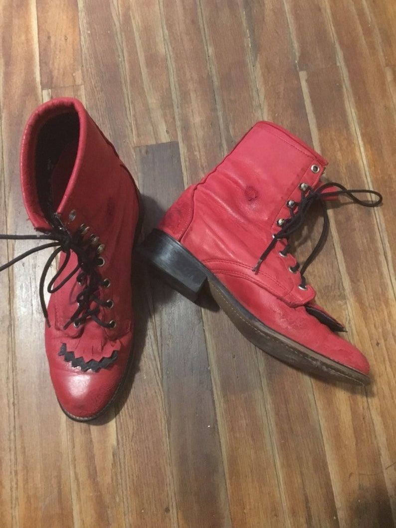 Vintage womens 80/'s cherry red Laredo western boots Size 6.5
