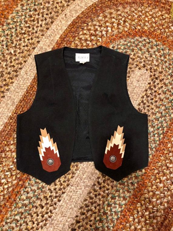 Amazing vintage 1990's southwestern women's vest.