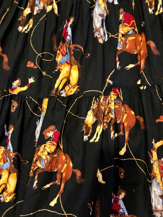 Amazing vintage 1980's/90's cowgirl print western… - image 3
