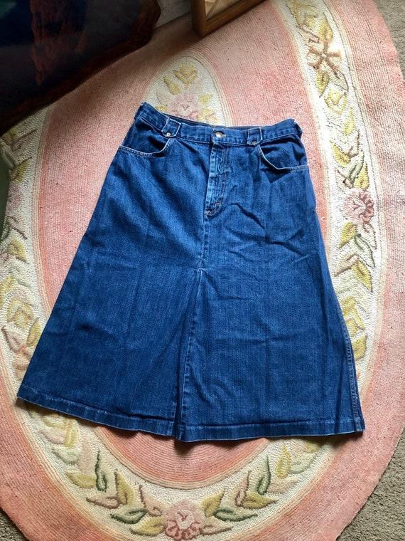 Rad vintage 1970's landlubber denim skirt women's