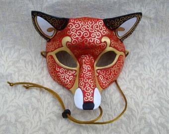 MADE TO ORDER  Leather Venetian Fox Mask... masquerade costume mardi gras halloween burning man