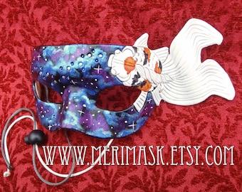 READY TO SHIP Japanese Goldfish Leather Mask...masquerade koi fish cosplay costume mardi gras halloween burning man