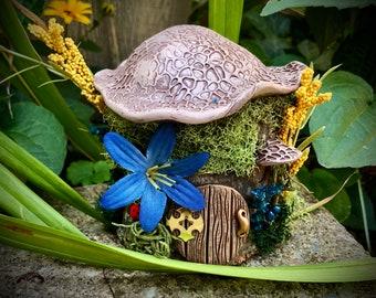 Fairy House… handmade fae natural garden cottage home sculpture