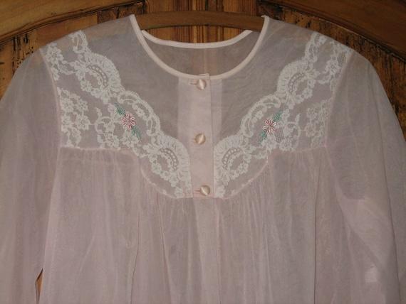 Vintage Shadowline Lingerie Peignoir Robe Nightgow