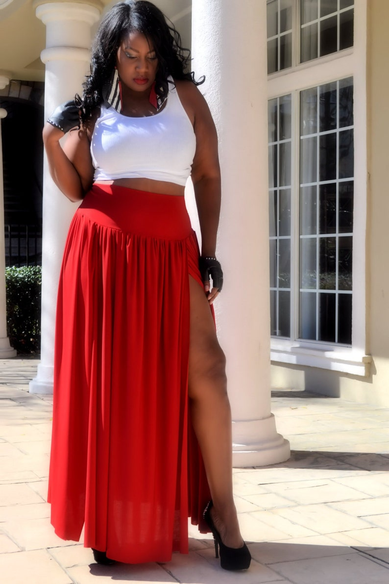 20a5f396329 Plus Size Maxi Skirt All Colors