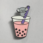 Koala-tea Boba - Strawberry - Cloisonné Hard Enamel Pin 1.25""