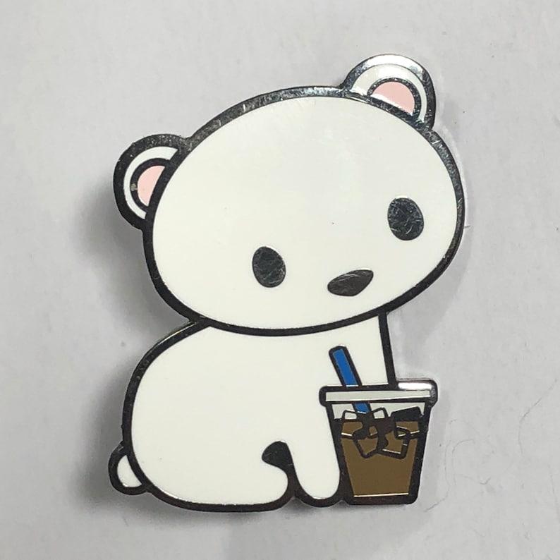 Fumetto freddo brew orso polare duro smalto pin pin etsy
