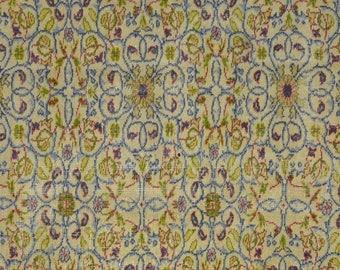 Rug Carpet Gold Blue Natural Vintage Multicolor Floral 5' x 8'