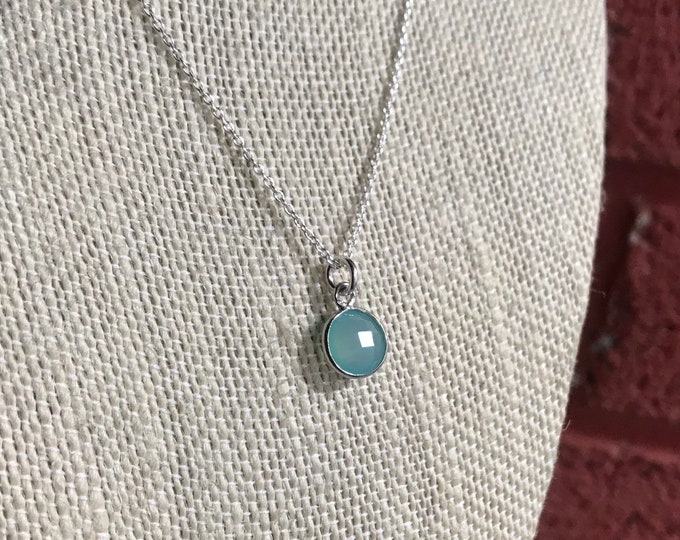 Little Round Chalcedony Necklace
