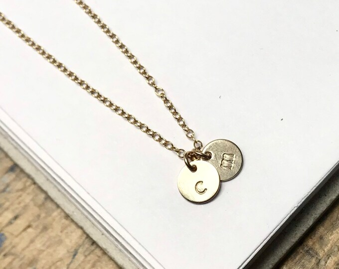 Custom Initial Necklace ~ gold-filled