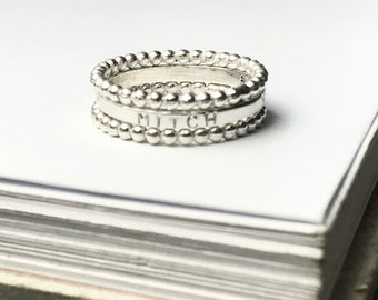 Custom Stamped 3 Ring Stack