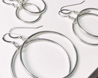 Smooth Hoop Dangle Earrings