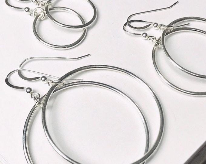 Smooth Hoop Dangle Earrings