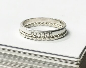 Custom Stamped 2 Ring Stack