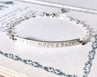 Handstamped Bar Bracelet