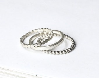 Single Stacking Rings - 3 Styles