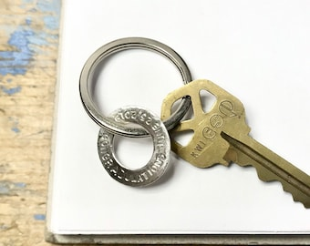 Custom Stamped Key Ring