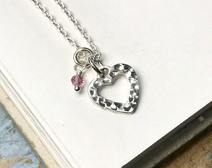 SmallOpen Heart Necklace