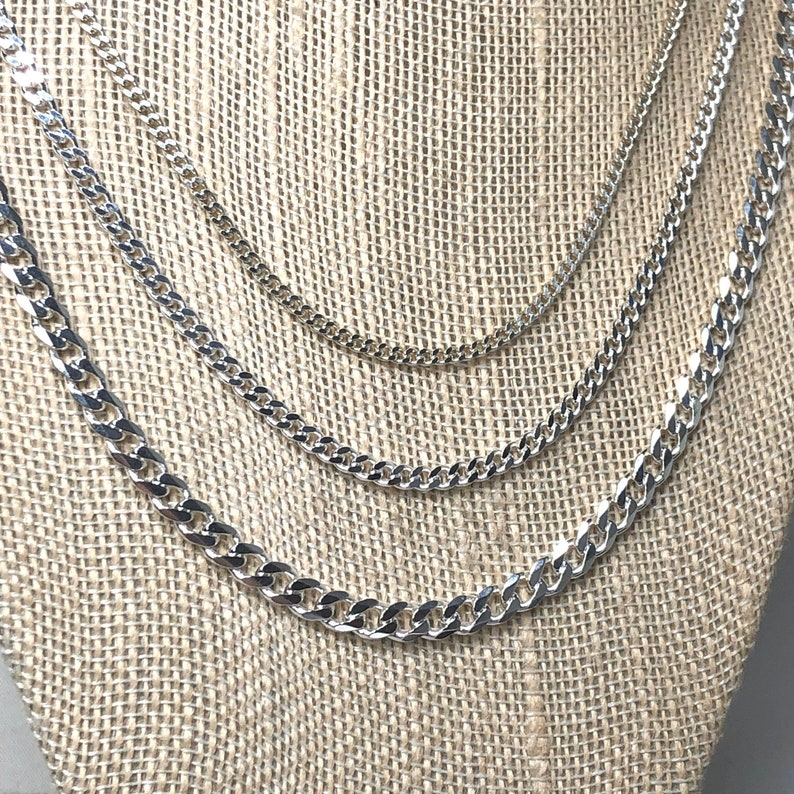 """16/"""" 2.1mm Solid 925 Sterling Silver Rolo Chain Necklace Made in Italy Jewelry"""