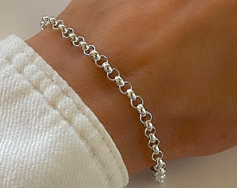 Silver Rolo Chain | Belcher bracelet | gift for him | gift for her | 925 sterling silver