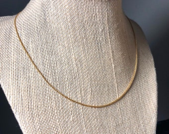 """Gold Wheat Chain - Dainty Gold-Filled Italian-made layering necklace - 16"""", 18"""" lengths - gift for her"""