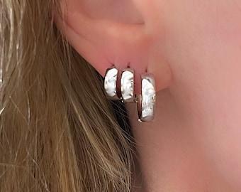 Silver Huggie Hoops | sterling hoop earrings | ear stack | gift for her | 925 sterling silver