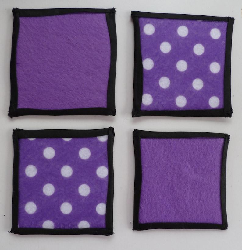 Purple Handmade Felt Coasters image 0