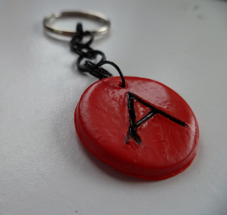 Red Intial A Keychain image 0