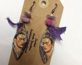 ABO Frida Kahlo Ceramic Earrings