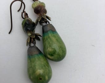ABO Ceramic Droplet Earrings