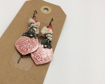 ABO Artisan Made Ceramic Earrings
