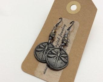 ABO Dragonfly Pewter Earrings