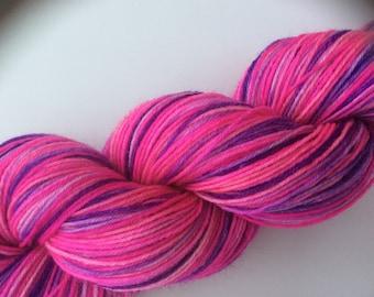 Barbie-Girl - hand dyed yarn 3.5 oz 437 yds