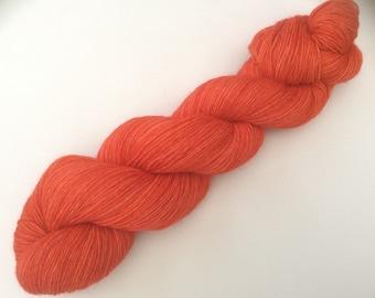 Coralish - hand dyed yarn 3.5 oz 437 yds