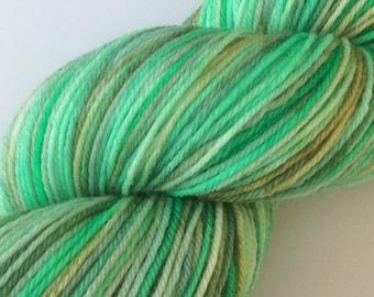 Mintish - hand dyed yarn 3.5 oz 437 yds