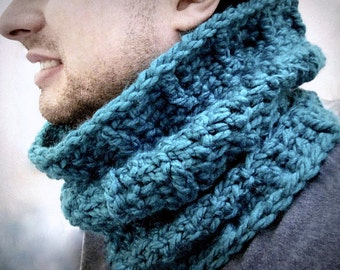 Instant Etsy Download PATTERN - Chunky Cozy Crochet Cowl Neck Gaiter Pattern -  Unisex Textured Urban Winter Tamer - So Hygge.