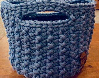 Small Cozy Storage Basket With Insert-Crochet-Tote Your Stuff in Style-Perfect for Dorm-Free Ship