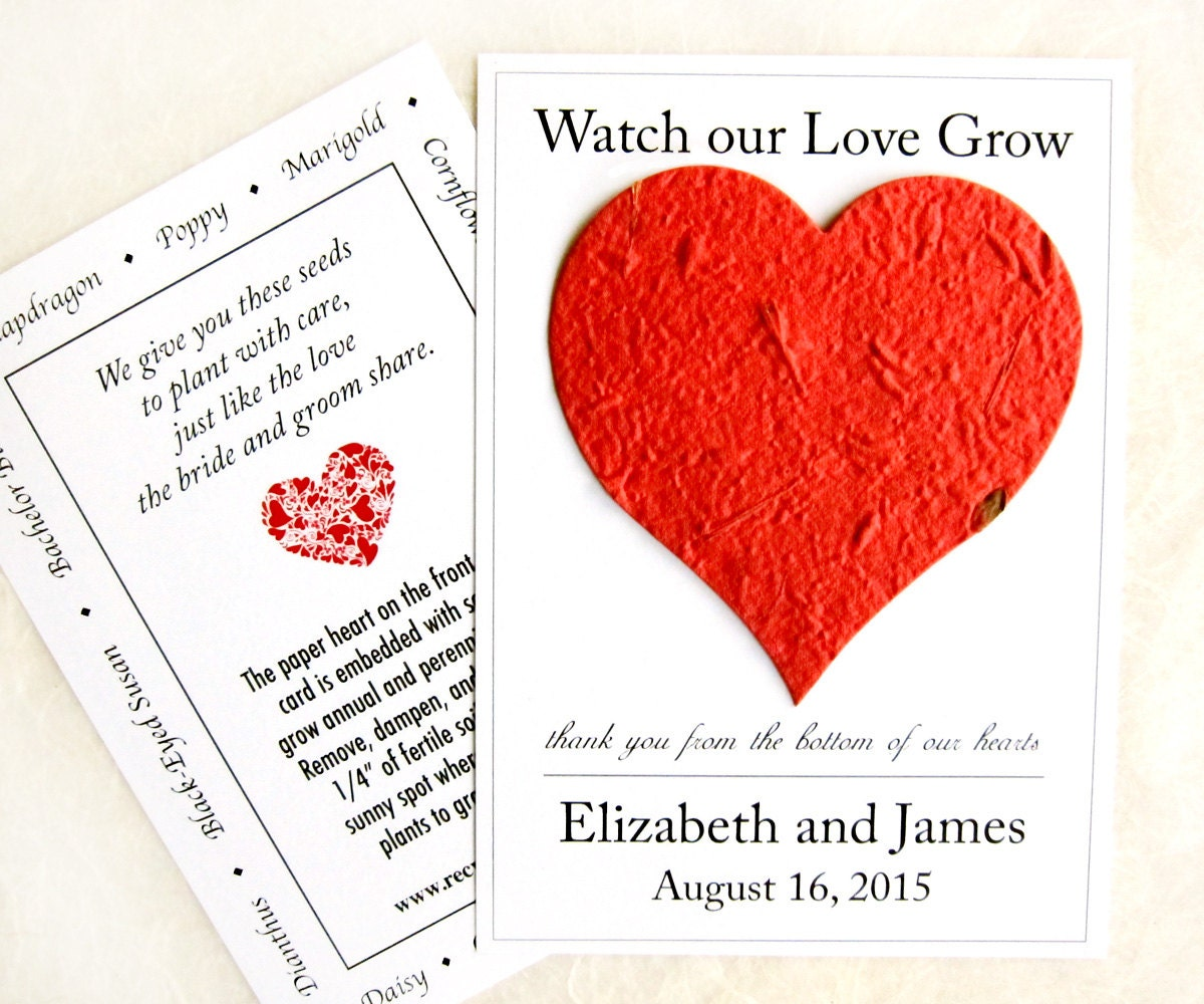 100 Watch Our Love Grow Seed Wedding Favors Flower Seed   Etsy