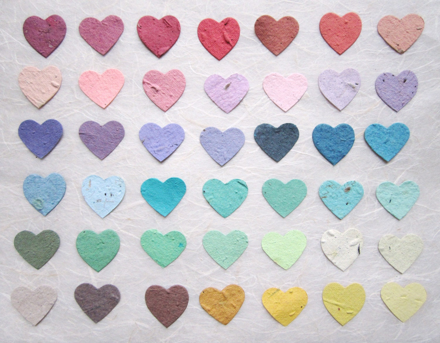 Flower Seed Paper Confetti Hearts Wedding Favors Plantable