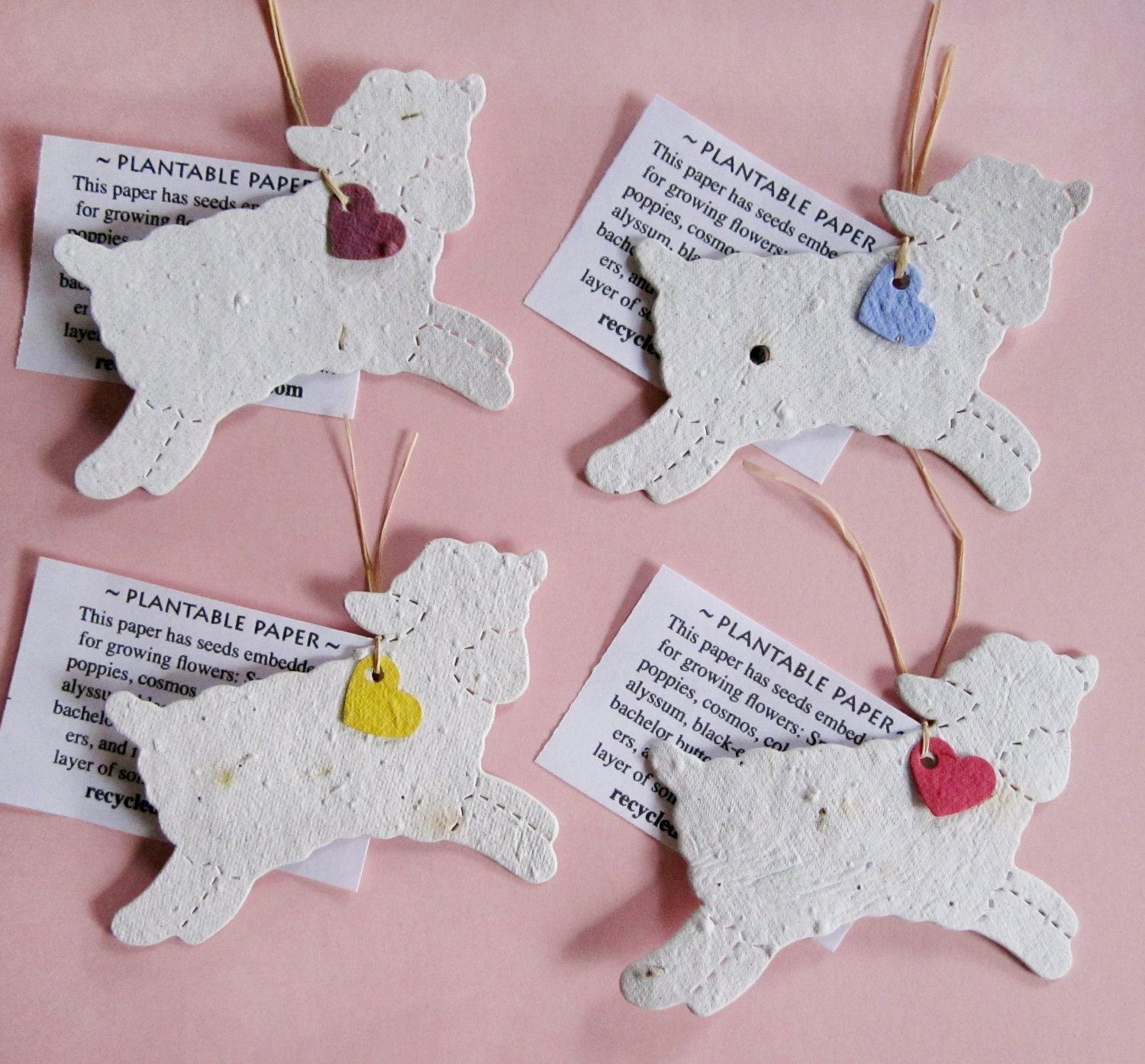 20 Plantable Seed Paper Lambs Baptism Favors Christening Etsy